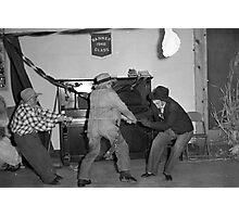 1940s Found Photo Halloween Card - Tug o' War Photographic Print