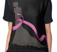 Pink Ribbon Chiffon Top
