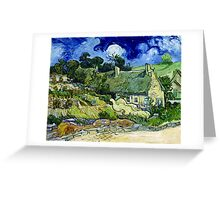 Vincent van Gogh Thatched Cottage at Cordeville Greeting Card