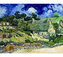 Vincent van Gogh Thatched Cottage at Cordeville Photographic Print