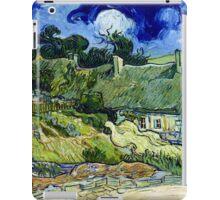 Vincent van Gogh Thatched Cottage at Cordeville iPad Case/Skin
