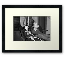 1940s Found Photo Halloween Card - Masked Partiers 9 Framed Print