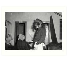 1940s Found Photo Halloween Card - Masked Partiers 10 Art Print