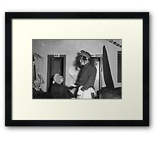 1940s Found Photo Halloween Card - Masked Partiers 10 Framed Print