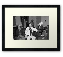 1940s Found Photo Halloween Card - Masked Partiers 11 Framed Print