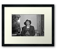 1940s Found Photo Halloween Card - Hobo Framed Print