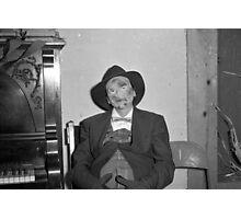 1940s Found Photo Halloween Card - Hobo Photographic Print