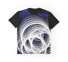 Crazy circles blue to white Graphic T-Shirt