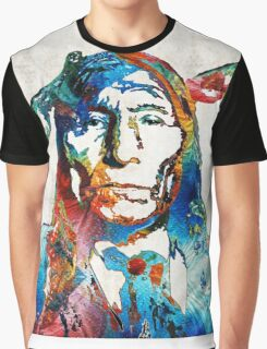 Native American Art - Warrior - By Sharon Cummings Graphic T-Shirt