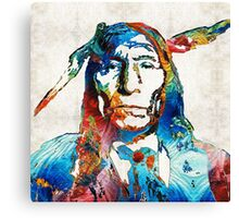 Native American Art - Warrior - By Sharon Cummings Canvas Print