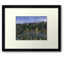 Golden Pagoda Framed Print
