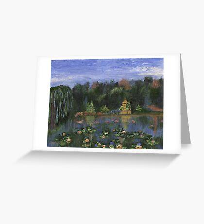 Golden Pagoda Greeting Card