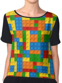 plastic blocks Chiffon Top