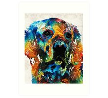 Colorful Dog Art - Heart And Soul - By Sharon Cummings Art Print
