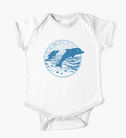 Message from Dolphins One Piece - Short Sleeve