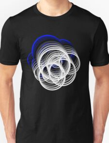 Crazy circles blue to white Unisex T-Shirt
