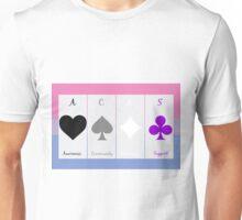 Ace symbols on Biromantic flag Unisex T-Shirt
