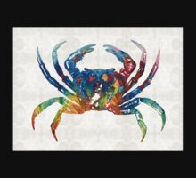 Colorful Crab Art By Sharon Cummings One Piece - Short Sleeve