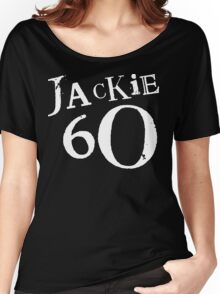 Jackie 60 Classic White Logo on Black Gear Women's Relaxed Fit T-Shirt