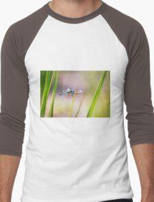 Dragonfly by Pond #1  Men's Baseball ¾ T-Shirt