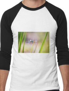 Dragonfly by Pond #1  Men's Baseball ¾ T-Shirt