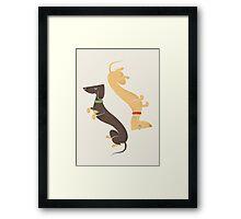 Dachshunds Framed Print