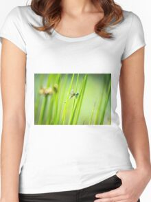 Dragonfly by Pond #2  Women's Fitted Scoop T-Shirt