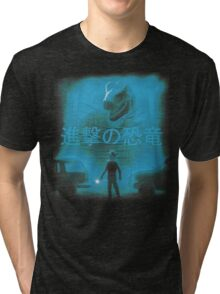 Attack on Dinosaur Tri-blend T-Shirt