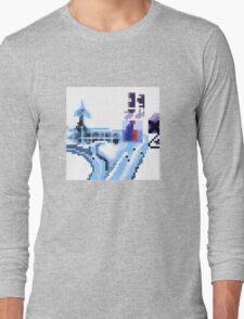 OK Computer Pixel Art Long Sleeve T-Shirt