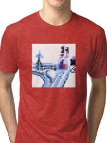 OK Computer Pixel Art Tri-blend T-Shirt