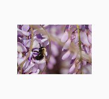 A bumblebee buzy on a Wisteria flower Unisex T-Shirt