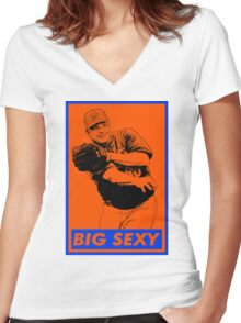 Big Sexy - Bartolo Women's Fitted V-Neck T-Shirt