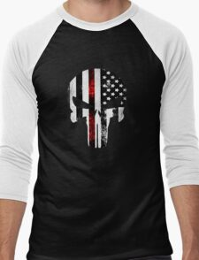 Punisher Red line 2016 Men's Baseball ¾ T-Shirt