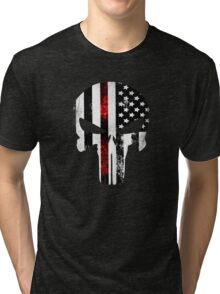 Punisher Red line 2016 Tri-blend T-Shirt