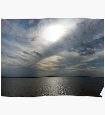 Clouds Over the Amazon River Poster