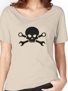 Skull 'n' Tools - Screw Pirate 1 (black) Women's Relaxed Fit T-Shirt