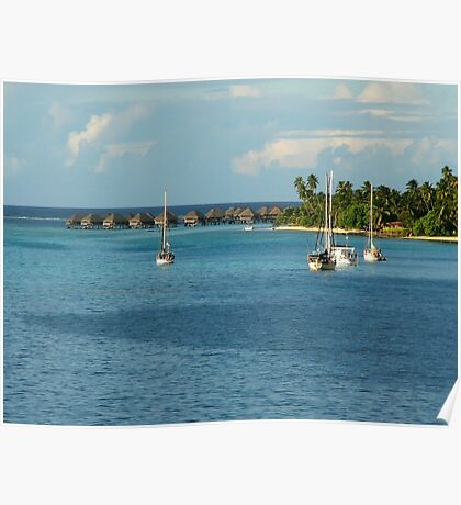 Bungalows - Boats - Beauty Poster
