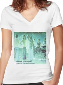 boards of canada music has the right to children Women's Fitted V-Neck T-Shirt