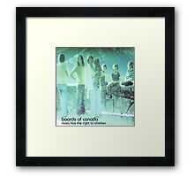 boards of canada music has the right to children Framed Print