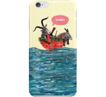 Goats in a Boat iPhone Case/Skin