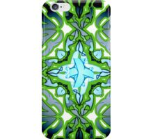 Green Neon Abstract Pattern Design iPhone Case/Skin