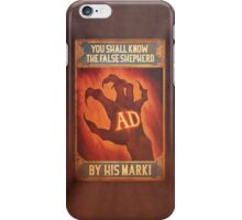 BioShock Infinite – You Shall Know the False Shepherd by His Mark! Poster iPhone Case/Skin