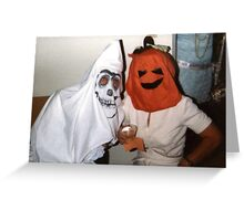 Found Photo Halloween Card - Ghost & Pumpkin Greeting Card