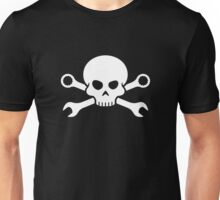 Skull 'n' Tools - Screw Pirate 1 (white) Unisex T-Shirt