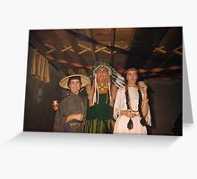 1950s Found Photo Halloween Card - Cultural Appropiators Greeting Card
