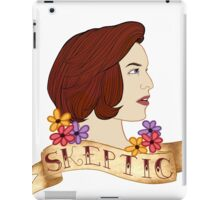 scully the skeptic iPad Case/Skin