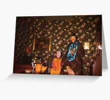 1950s Found Photo Halloween Card - That Wallpaper! Greeting Card