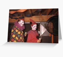 1950s Found Photo Halloween Card - Clowns Greeting Card