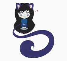 Chibi Kitten Girl  One Piece - Short Sleeve