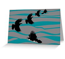 Tuis and the Blue Ocean Greeting Card